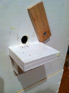 Access hole and landing pad for each honey super. Easier access & honey storage for the bees!