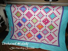 FREE printable pattern for Unchained Melody Quilt from Jo's Country Junction. #joscountryjunction #freequiltingtutorials #quilting