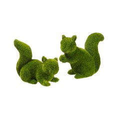 Alec 2-Piece Moss CoveredSquirrel Topiary