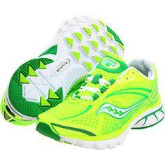 saucony neon green