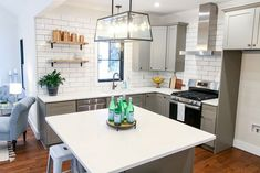 Saving Etta: Kitchen Update + Reveal Modern Farmhouse Kitchen with Sources! Kitchen Pantry, Kitchen Decor, Kitchen Ideas, Chevron Coffee Tables, Pantry Inspiration, Modern Farmhouse Kitchens, Home And Garden, Garden Tips, Garden Ideas