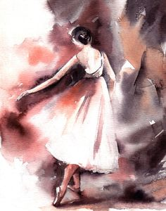 Ballerina-Wand-Kunstdruck Aquarell von CanotStopPrints auf Etsy