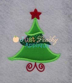 Whimsical Christmas Tree Applique Design