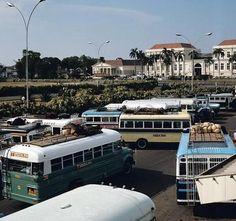 Terminal Bus Lapangan Banteng, Jakarta, Indonesia 1970