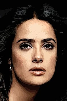 A portrait of Salma Hayek - new at RedBubble http://www.redbubble.com/people/jngraphs/works/10404324-salma-1
