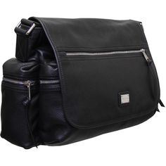 Dolce & Gabbana Black Leather Messenger Bag ($700) ❤ liked on Polyvore featuring men's fashion, men's bags, men's messenger bags, bags and mens leather messenger bag
