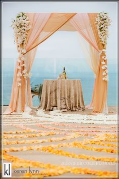 clever outdoor mandap ideas using arch - Google Search