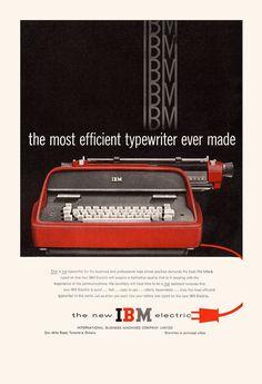 Retro Office, Vintage Office, Types Of Lettering, Ibm, Letter Fonts