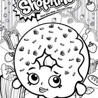 Desenho de Shopkins donuts para colorir