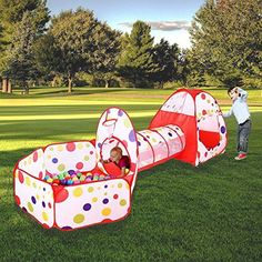 ONLY $39.99+FREE SHIPPING  Adorable ideal Gift for Kids: Spacious space, tent, tunnel and ball pool included. Whatever at home or outdoor