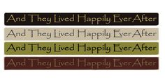 """And They Lived Happily Ever After 36"""" Wood Sign"""