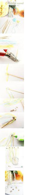 Proyecto de manualidades: wedding wands, aureolina