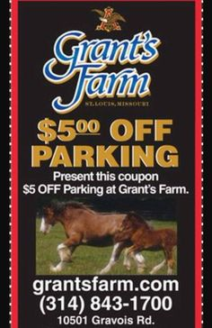 Grant's Farm Parking Coupon