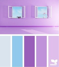 Purple Color Schemes perfect color combination for a room where you relax, think, and