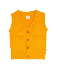RuggedButts Orange Knit Button Down Vest