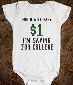Would be cute to do at birthday parties age 5 and under... document the years with family members and start a college fund at the same time.