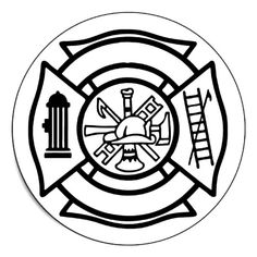 firefighter badge coloring pages - photo#14