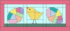 How about a few Crazy Easter Eggs and some Struttin' Chicks made with Foundation Paper Piecing to add to your Easter decor? Barn Quilt Patterns, Paper Piecing Patterns, Pattern Paper, Easter Egg Pattern, Fabric Postcards, Foundation Paper Piecing, Quilted Wall Hangings, Barn Quilts, Couture