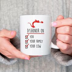 """Dishonor""-Mushu #Disney #Mulan #Printable #Mushu #Mug #DisneyMovie #Ad"