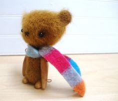 4 inch Miniature Artist Bear - Mishka RESERVED
