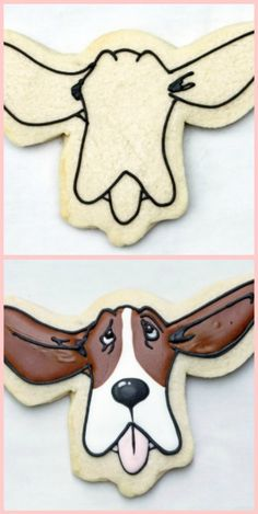 charlie with his ears up decorated cookie