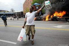 Looting Baltimore for his piece of justice.