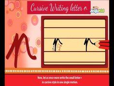 Cursive Letter Writing for Children - small letter r - Kids Educational Videos