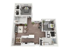 View stylish apartment floor plans, pricing, and availability at Verve Mountain View. Sims House Plans, House Layout Plans, Best House Plans, Small House Plans, House Layouts, House Floor Plans, Sims 4 House Design, Small House Design, Home Design
