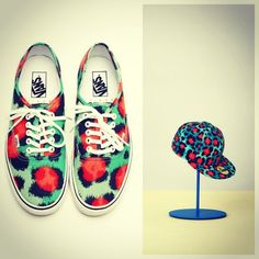 Kenzo paris collaboration with vans #shoes #sneakers #cap