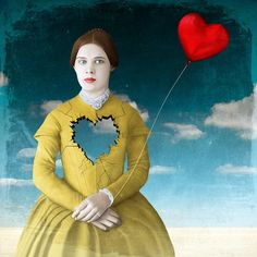 "Beth Conklin - Mixed Media & Digital Art - ""May your heart be lighter today"" I just like the symbolism of this piece. It's cool how it mixes colors and shapes and everything works together. Digital Collage, Collage Art, Digital Art, Pop Surrealism, Whimsical Art, Surreal Art, Medium Art, Mixed Media Art, Altered Art"