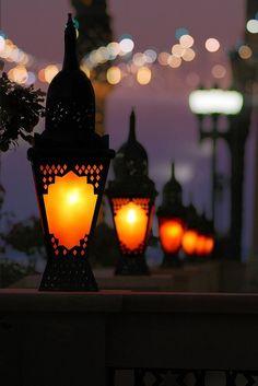 a row of lanterns