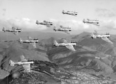RNZAF Harvard Formation circa 1958-59 RNZAF Official Photo, Wings Over New Zealand