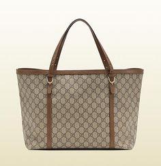 borsa shopping gucci nice in tessuto GG supreme
