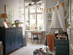 Beautiful Stockholm family apartment with vintage features - Paul & Paula One Bedroom, Kids Bedroom, Lego Bedroom, Light Wooden Floor, Family Apartment, Deco Design, Kids Corner, Kids Decor, Vintage Children