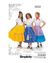 Poodle Skirts | Poodle Skirt Costumes, Patterns, History Simplicity Pattern 8628 Misses Disney Character Skirts - Size R5 14 - 22 $24.99 AT vintagedancer.com
