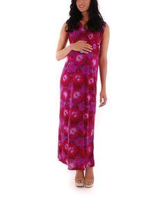 Look at this #zulilyfind! Celestial Jill Maternity Maxi Dress #zulilyfinds