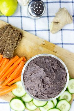 High Protein Black Bean Lime Dip #vegan #dip #black beans | hurrythefoodup.com