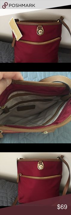 Michael Kors New with Tag shoulder bag 10x10 New with tag never used Shoulder bag. burgundy color, Michael Kors Bags Shoulder Bags