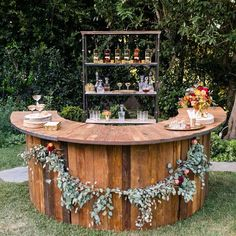 « When the weather allows, a chance to entertain in the great outdoors means all sorts of possibilities for an outdoor bar!! #homedesign #lifestyle #style… »