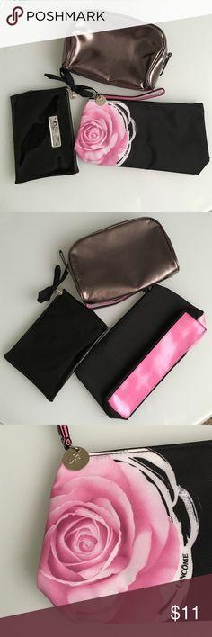 👛Lancôme Makeup Bags Sale❤️ Set of 3 Lancôme makeup bags. In excellent condition. Lancome Bags Cosmetic Bags & Cases