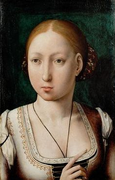 https://flic.kr/p/65MAqe | Juana, Queen of Castile, Sister of Catherine of Aragon | The close resemblance between this Jaun de Flander's portrait of Juana and Flander's portrait of Catherine, has led some to believe they were of the same individual. Recent research has shown conclusively which sister is which, however.