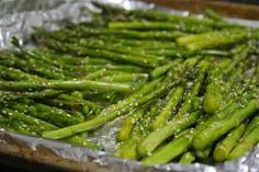 Oven Roasted Asparagus with Sesame Seeds