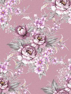 purple floral print vintage wallpaper