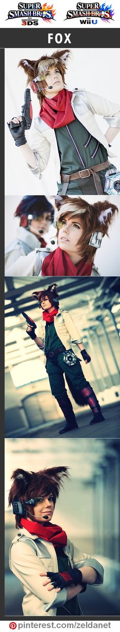 Fox McCloud by GeleeBelly in Super Smash Bros cosplay series | #Nintendo #3DS #WiiU Credits in original post at http://www.pinterest.com/zeldanet/super-smash-bros-cosplay-series/