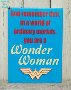 Wonder Woman SignWall Decor by AroundtheBlockAZ on Etsy