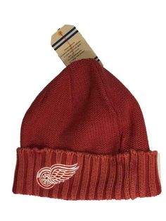 Detroit Red Wings Reebok Unisex Faded Red Cuffed Knit Hat Cap Beanie a56de4065bc4