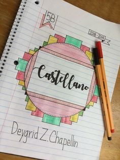 """I love making signs with such sentences!I love making characters with phrases like this! """"You can do yours with any phrase! Bullet Journal Banner, Bullet Journal Inspo, Bullet Journal Ideas Pages, Notebook Art, Notebook Covers, How To Make Signs, Making Signs, School Notebooks, Decorate Notebook"""