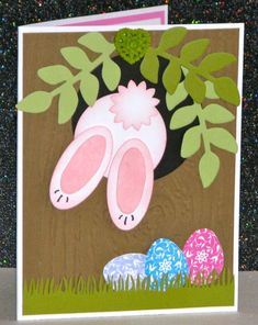 Bailey's Bunny Tree (outside) by Broom - Cards and Paper Crafts at Splitcoaststampers