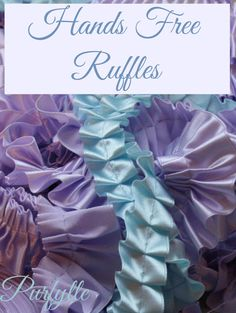 This sewing hack will make ruffling sew easy! Sewing Hacks, Ruffles, Hands, Easy, Fabric, How To Make, Gown, Free, Big
