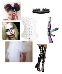 """""""2nd Halloween Costume #Purge #CandyGirl"""" by sweeetestgirl on Polyvore featuring Azalea"""